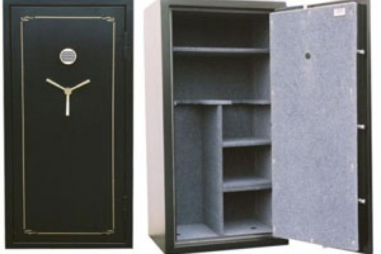 The Mutual Gun Safe is engineered to protect guns and valuables from fire and burglary. Its appealing design and flexible interior options make it one the most versatile safes on the market.